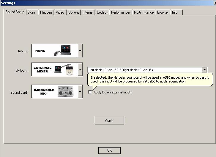 virtual dj error in the asio sound driver