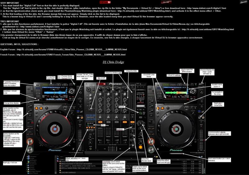 VIRTUAL DJ SOFTWARE - Skin Pioneer CDJ2000 NEXUS + DJM900