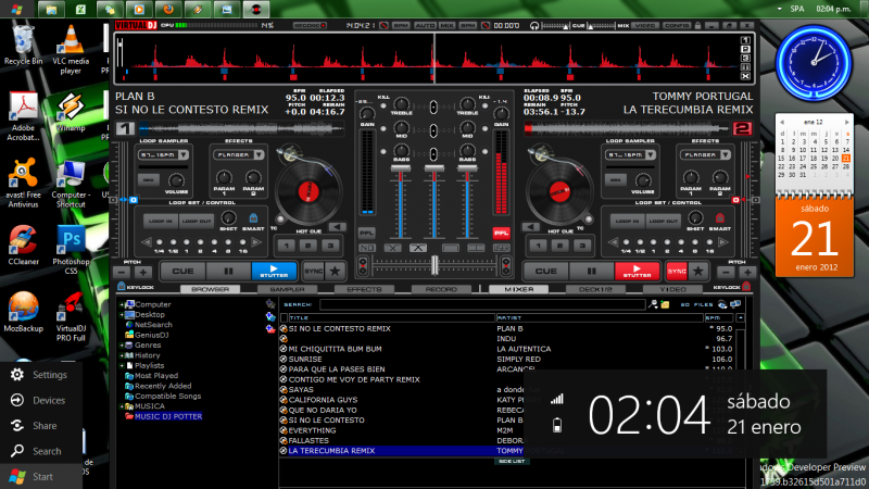 VIRTUAL DJ SOFTWARE - Windows Developer Preview (Windows 8 ...