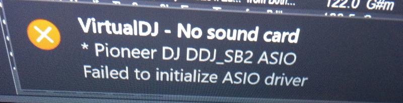 DJ Software - VirtualDJ - Controller failed to connect