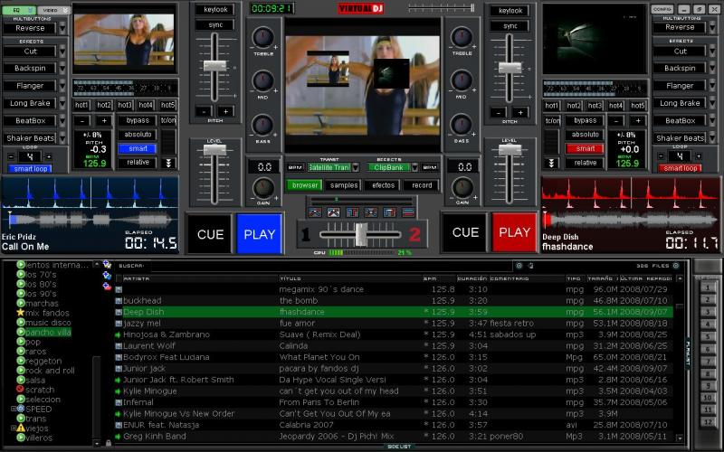 VIRTUAL DJ SOFTWARE - New MFF VJ skinvj