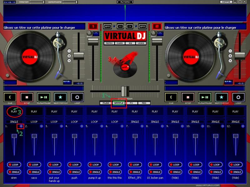 Virtual dj sample