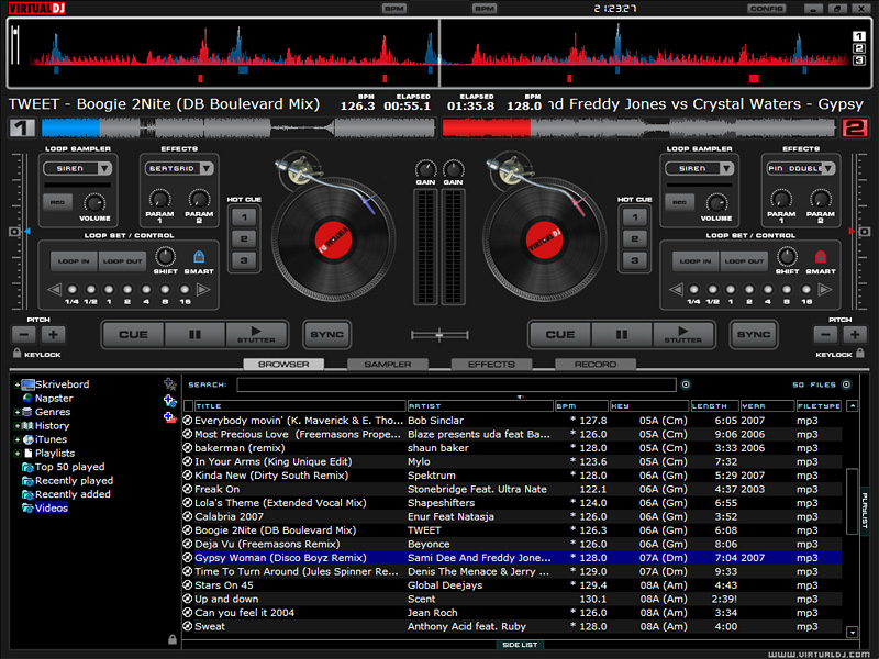 VirtualDJ PRO for Mac OS X full screenshot