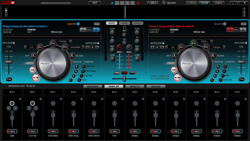virtual dj sampler