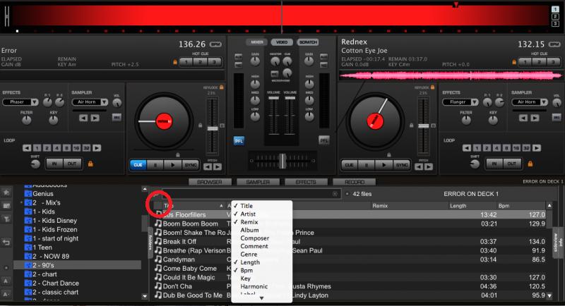 VirtualDJ - RESOLVED iTunes Playlists - Track order