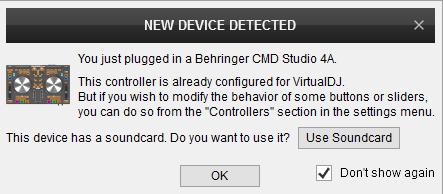 DJ Software - VirtualDJ - Hardware Manuals - Behringer - CMD Studio