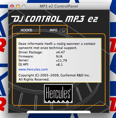 hercules dj control mp3 e2 software