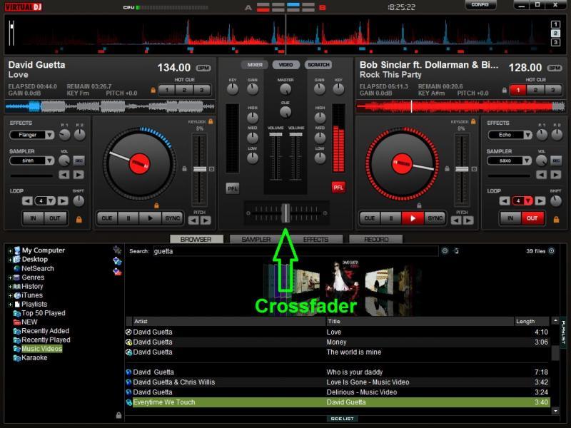 DJ Software - VirtualDJ - how to do auto crossfade between