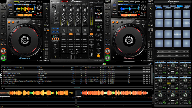 Virtual dj software skin pioneer cdj2000 nexus djm900 - Table de mixage virtuel a telecharger gratuitement ...