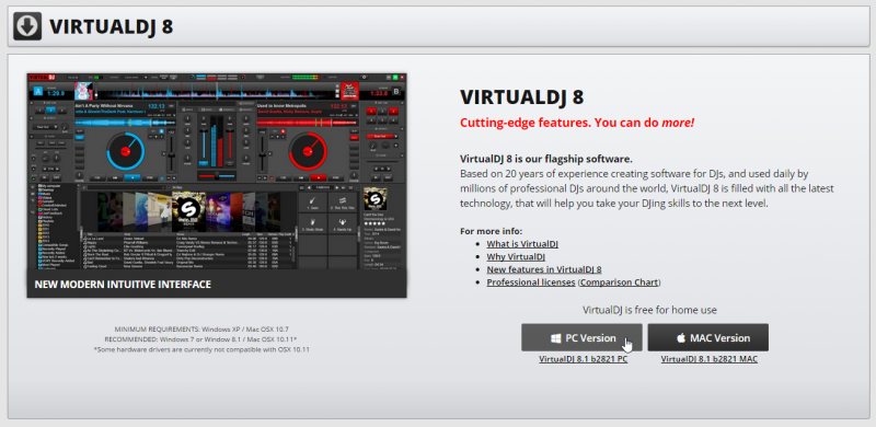 virtual dj 8  pc