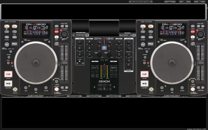 denon dn-hc4500 skin virtual dj