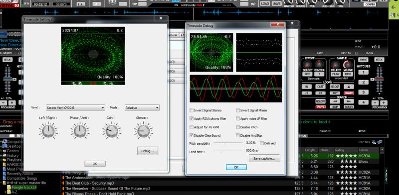 DJ Software - VirtualDJ - vms4 timecode setting wont work