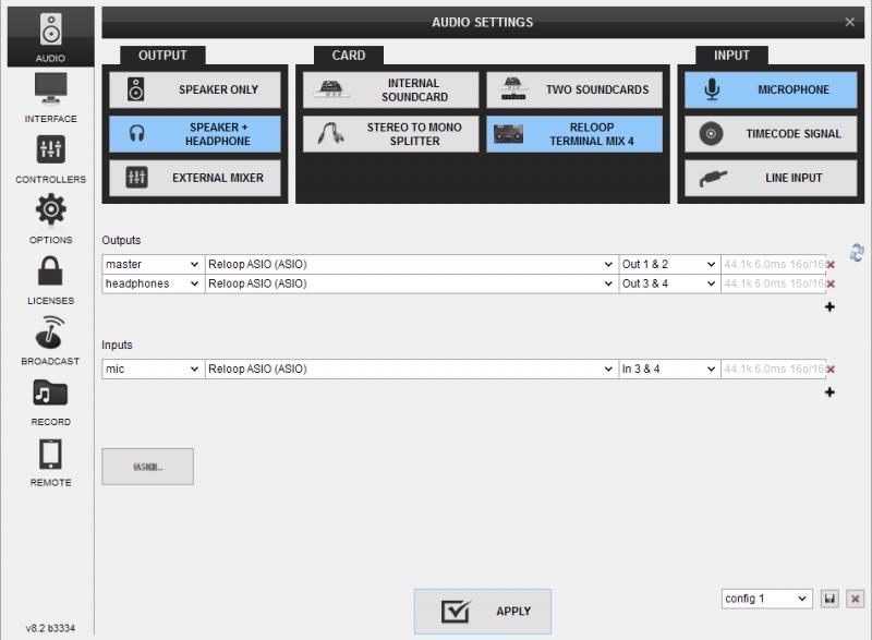 reloop terminal mix 4 virtual dj mapping