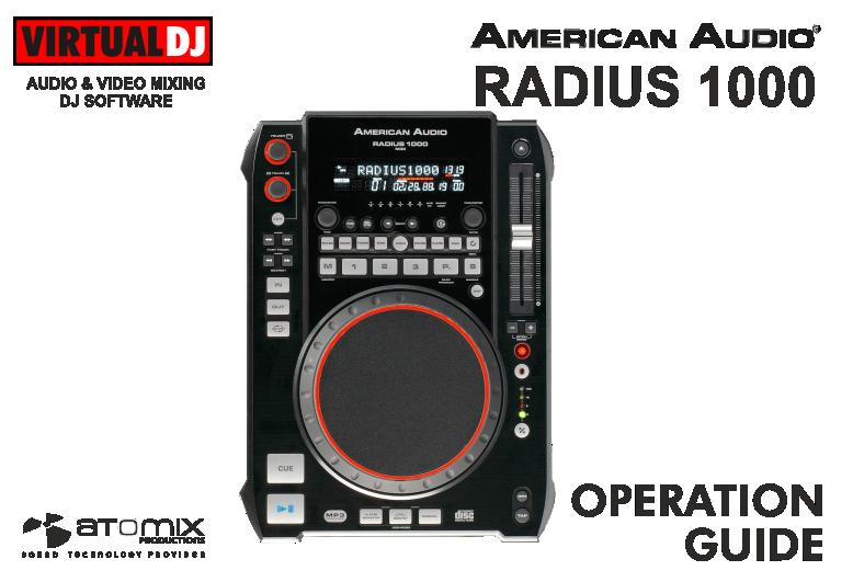 VIRTUAL DJ - Hardware Manuals - American Audio - Radius 1000 on american dj lighting, audio 4 dj, american dj amplifier, american mobile dj, american dj supply, american standard service equipment, american dj equipment speakers,