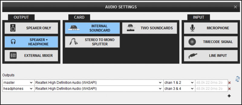 DJ Software - VirtualDJ - User Manual - Settings - Audio setup