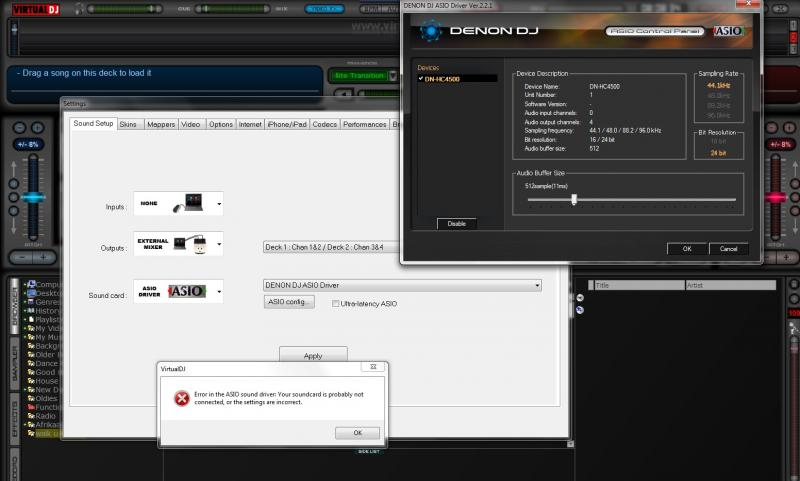 Virtual dj software pioneer ddj-sx2 driver and dvs issues.