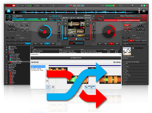 automatic mixing dj software