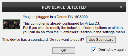 DJ Software - VirtualDJ - Hardware Manuals - Denon DJ - MC-6000 - Setup