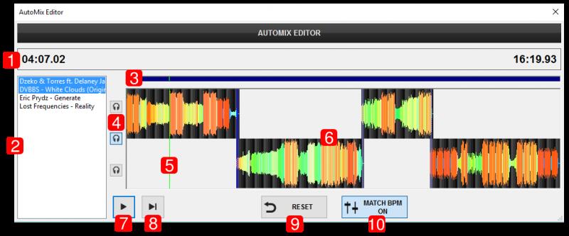 DJ Software - VirtualDJ - User Manual - Editors - Automix editor