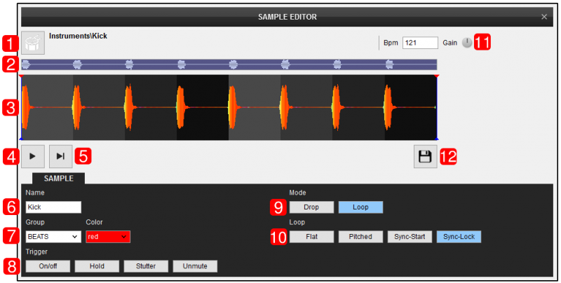 DJ Software - VirtualDJ - User Manual - Editors - Sampler editor