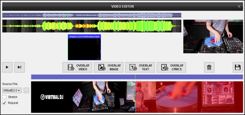 DJ Software - VirtualDJ - User Manual - Editors - Video editor