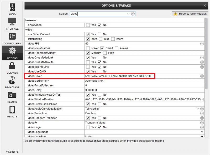 DJ Software - VirtualDJ - Extended Video window will no