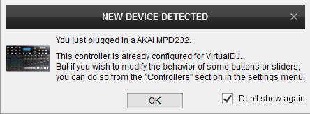 DJ Software - VirtualDJ - Hardware Manuals - AKAI - MPD232