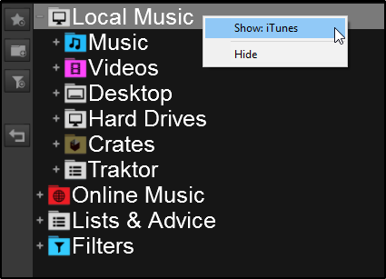 DJ Software - VirtualDJ - VDJPedia - iTunes not showing