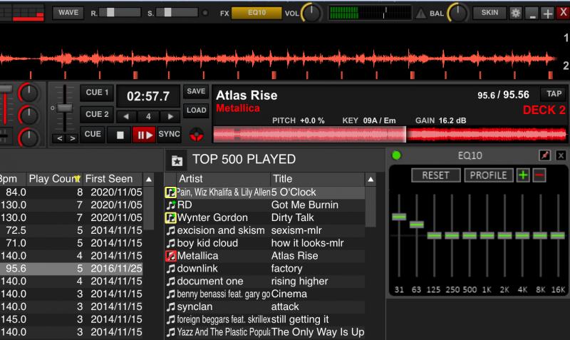 DJ Software - VirtualDJ - Graphic EQ
