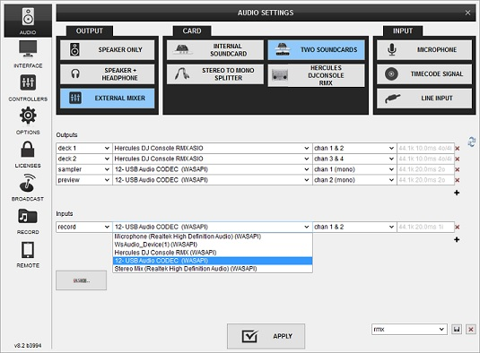 DJ Software - VirtualDJ - MIC unable to record