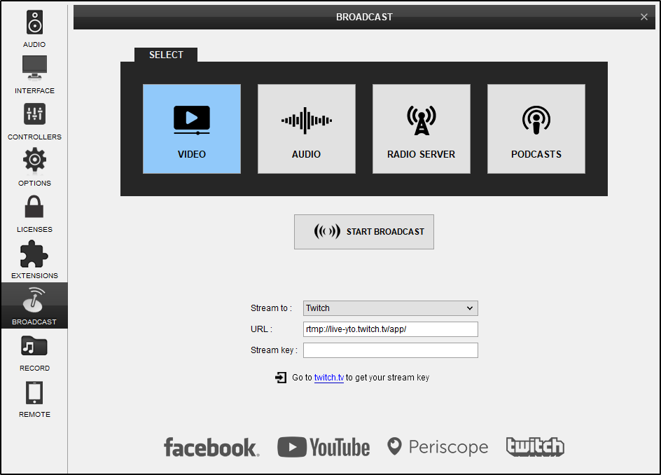 DJ Software - VirtualDJ - VDJPedia - Video Broadcast to Twitch