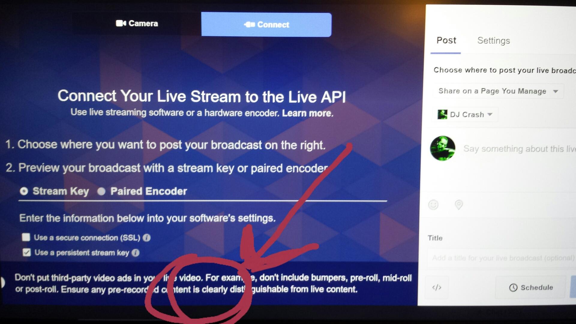 DJ Software - VirtualDJ - Facebook Stream Key Issues