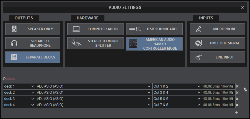 Virtualdj User Manual Settings Audio Setup External Mixer